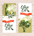 Banner set of vintage olive splash backgrounds vector image vector image