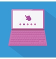 Flat styled laptop vector image