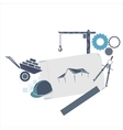 Various building icons Construction concept vector image vector image