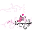 Romantic kissing birds vector image