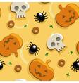 halloween pizza seamless vector image