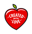 logo heart in the form of fruit vector image vector image