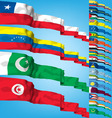 set 4 of world flags vector image