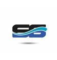 66th Year anniversary design logo vector image