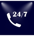 All-day customer support call-center Flat icon vector image