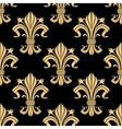 Royal golden fleur-de-lis seamless pattern vector image