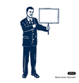 Man with sign vector image