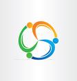 people in circle teamwork symbol vector image