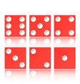 set of red casino appearance with a cube vector image
