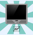 tv screen retro monitor template electronic device vector image