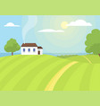 village landscapes farm house vector image