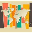 World map paper 3D retro background vector image