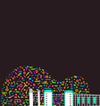 Colorful abstract guitar background vector image