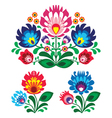 Polish floral folk embroidery pattern vector image vector image