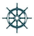 ship steering wheel vector image