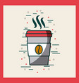 disposable coffee cup image poster vector image