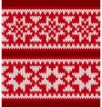 Two knitted patterns with nordic stars vector image vector image
