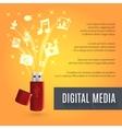 Usb Flash Drive Media vector image