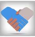 3d Paper Handshake vector image