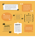 Modern quote text template design elements vector image