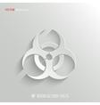 Biohazard icon - white app button vector image