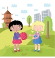 Childrens world without prejudice vector image