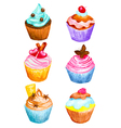 cupcakes vector image