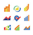 financial chart symbol sign package vector image