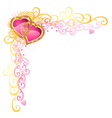 heart of love valentines day corner vector image