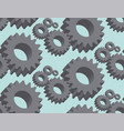 seamless pattern cogwheel in 3d vector image