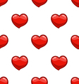 Seamless pattern with cartoon heart vector image