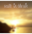 Seaside summer sunset blurred background template vector image