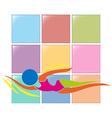 Sport logo for swimming vector image