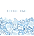 Stressful in office with too many stack of papers vector image