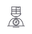 Weight scale linear icon sign symbol on vector image