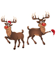 Rudolph The Reindeer Dancing with Hat vector image vector image