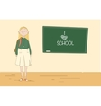 Girl at the blackboard Pupil in the school vector image