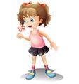 Cartoon Lollipop Girl vector image vector image