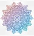 illuminati eye in ornate round mandala pattern vector image