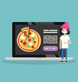 food delivery service conceptual young caucasian vector image
