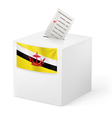 Ballot box with voting paper Brunei vector image