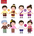 Children of the world Laos Cambodia Myanmar and vector image
