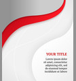 Red and gray business background brochure design vector image