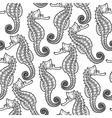 Graphic Leafy Seadragon seamless pattern vector image