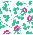 Seamless Clover Pattern vector image vector image