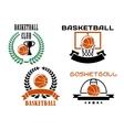 Basketball club emblems and symbols templates vector image