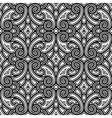 Black and white swirly pattern vector image