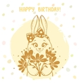 bunny silhouette card vector image