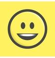Emoticon icon vector image
