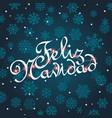 feliz navidad greeting card template for vector image